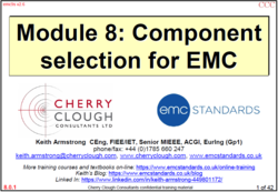 8 - Component selection for EMC image #1