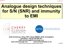 Analogue design techniques for S/N (SNR) and immunity to EMI image #1