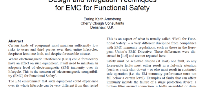 Design and Mitigation Techniques for EMC for Functional Safety image #1