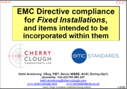 EMC Directive Compliance for Fixed Installations and items intended to be incorporated for use within them image #1
