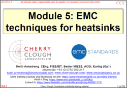 5 -  EMC techniques for heatsinks - Updated Jan 2021 image #1