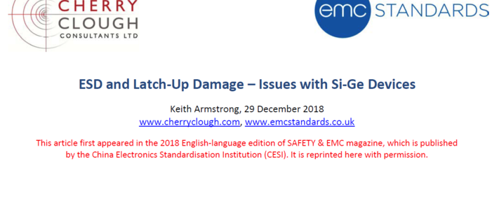ESD and Latch-Up Damage – Issues with Si-Ge Devices image #1