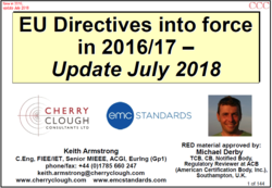 Recent EMC Directives - 2016-17 image #1