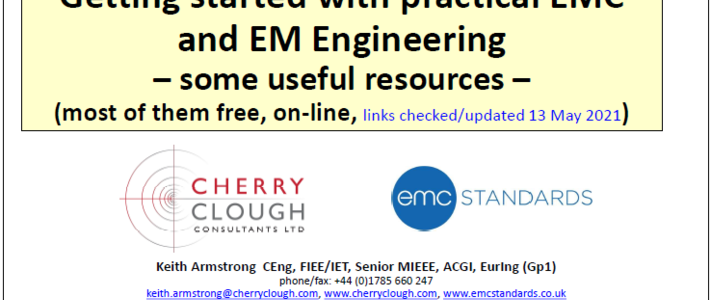 Getting started with practical EMC and EM Engineering - some useful resources - Updated May 2021 image #1