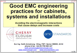 Good EMC Engineering practices for electrical cabinets systems and installations image #1