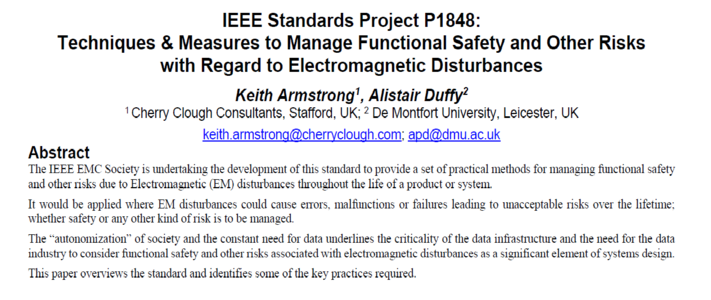 IEEE Standards Project P1848: Techniques & Measures to Manage Functional Safety image #1