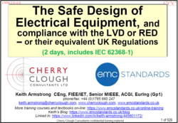 The Safe Design of Electrical Equipment & LVD compliance - Updated Feb 2021 image #1