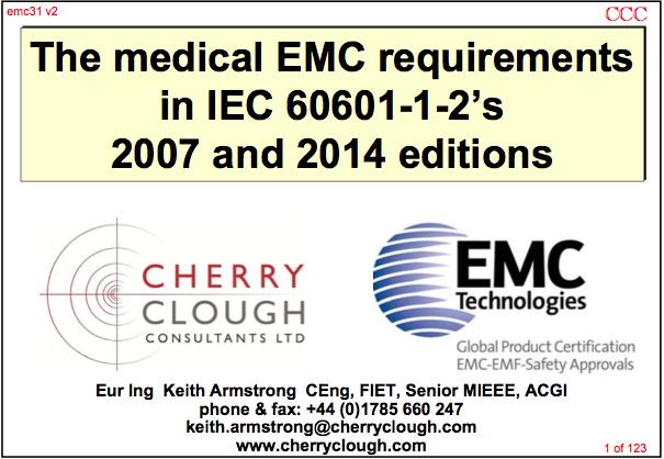 Medical Emc Requirements In Iec 60601 1 2 2007 2014 Emc