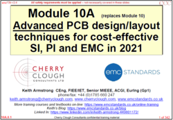10a - Advanced PCB design techniques for cost-effective SI, PI and EMC in 2021 image #1
