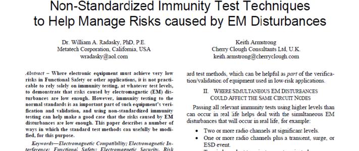 Non-standardized immunity testing, Ottawa 2016 image #1
