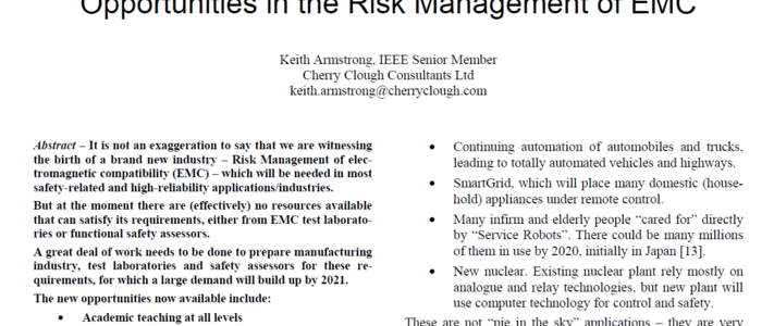 Opportunities in the Risk Management of EMC image #1
