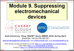 9 - Suppressing electro-mechanical devices - Updated Jan 2021 image #1