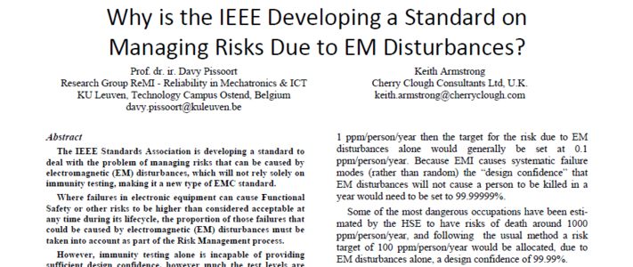 Why is the IEEE developing a standard on managing EMI risks, Ottawa 2016 image #1